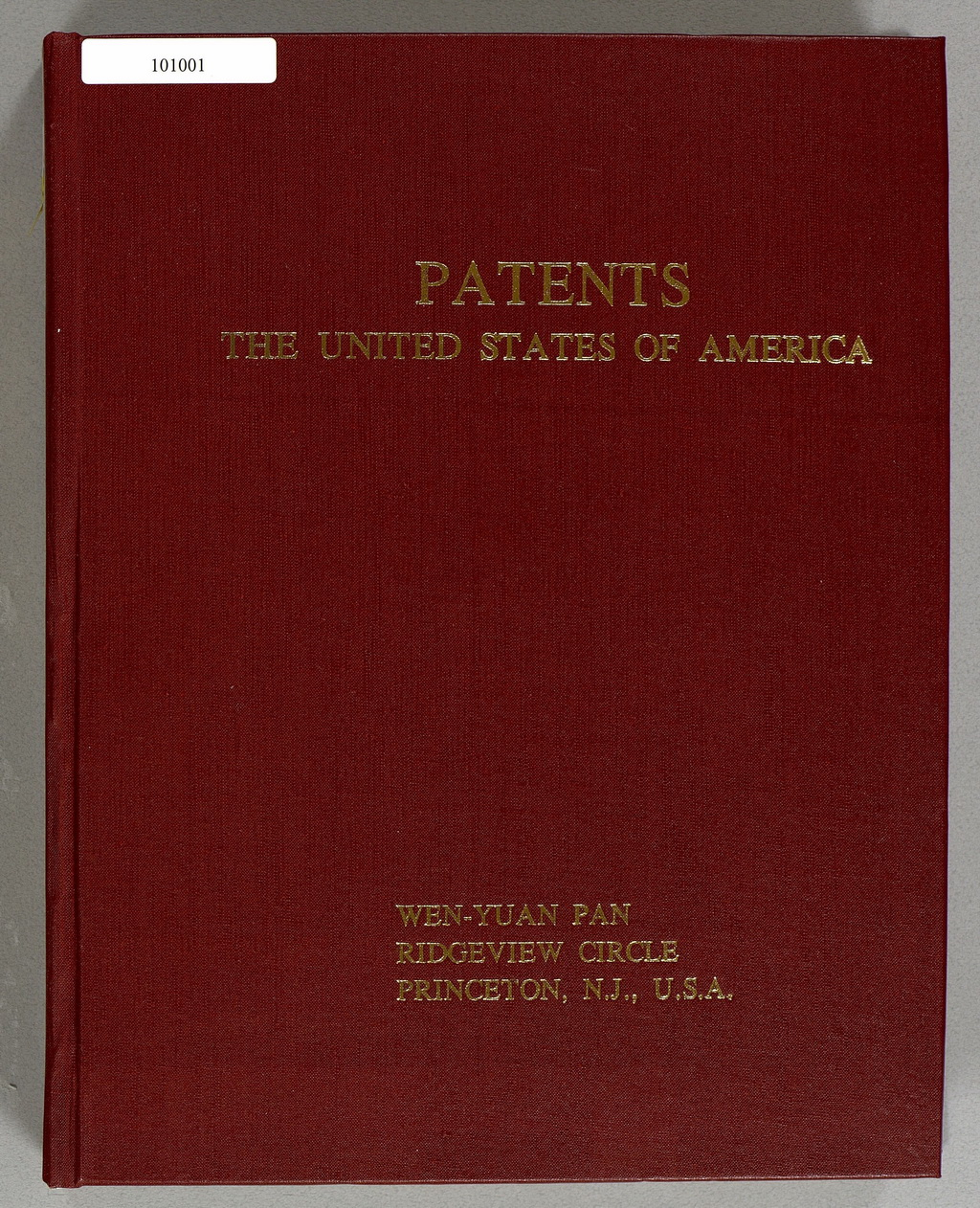 PATENTS: THE UNITED STATES OF AMERICA