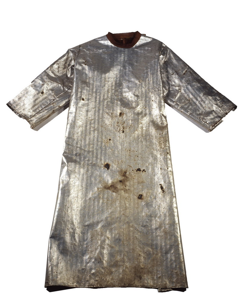 Clothes with aluminum foil