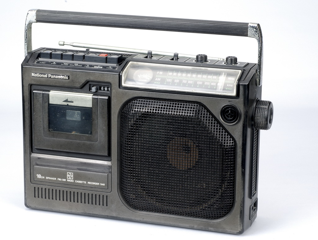 (1/3)國際牌卡式收錄音機 ╱ National Panasonic Radio cassette recorder 548