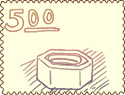 Screw cap stamp
